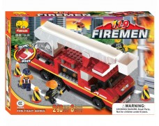 Fire engine with sound and light - 240 items