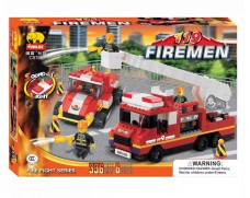 Team fireman car with sound and light - 336 items